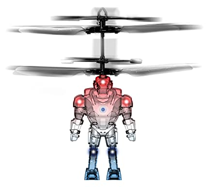 Panoware Robot Brigade Space Mini Drone Flying Helicopter Toy, Ghost