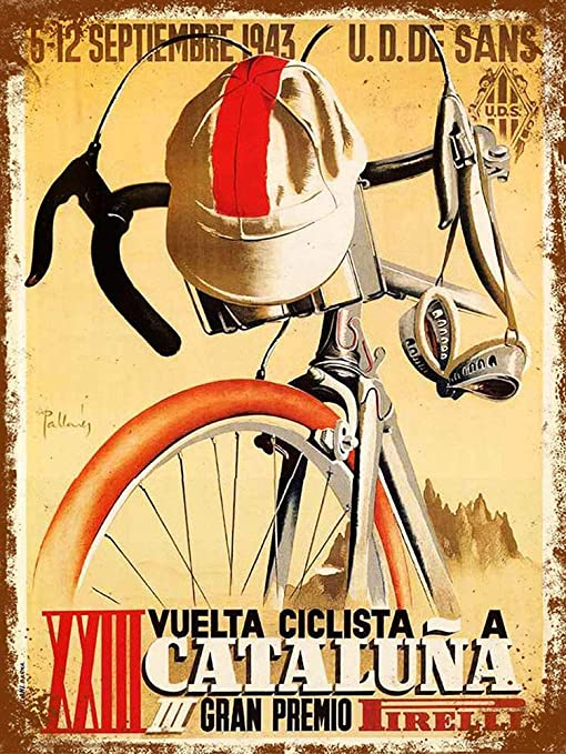 Cataluna Cycling Póster de Pared Metal Creativo Placa ...