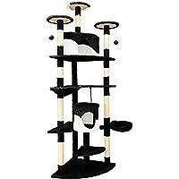 IPOTOOLS Katzenbaum für Grosse Katzen Stabil - Kratzbaum Deckenhoch Katzenkratzbaum Groß Stabil mit Plüsch Höhlen, Sisal Säulen, Liegemulden und Spielkordeln 204 cm