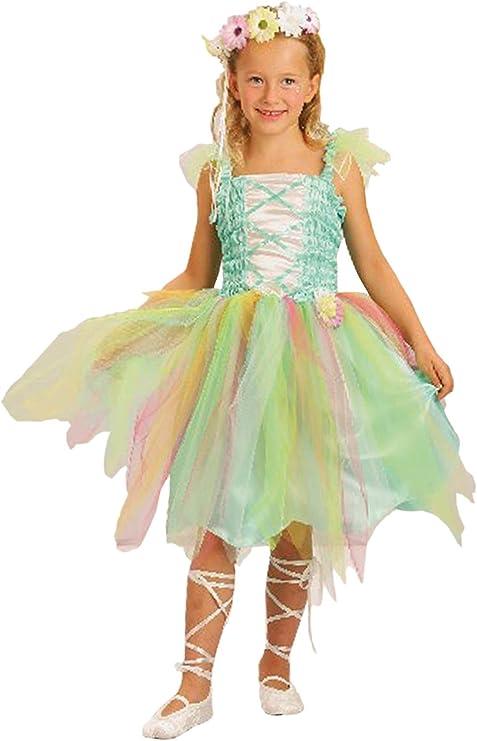 EL CARNAVAL Disfraz Hada Primavera Talla de 8 a 10 años: Amazon.es ...