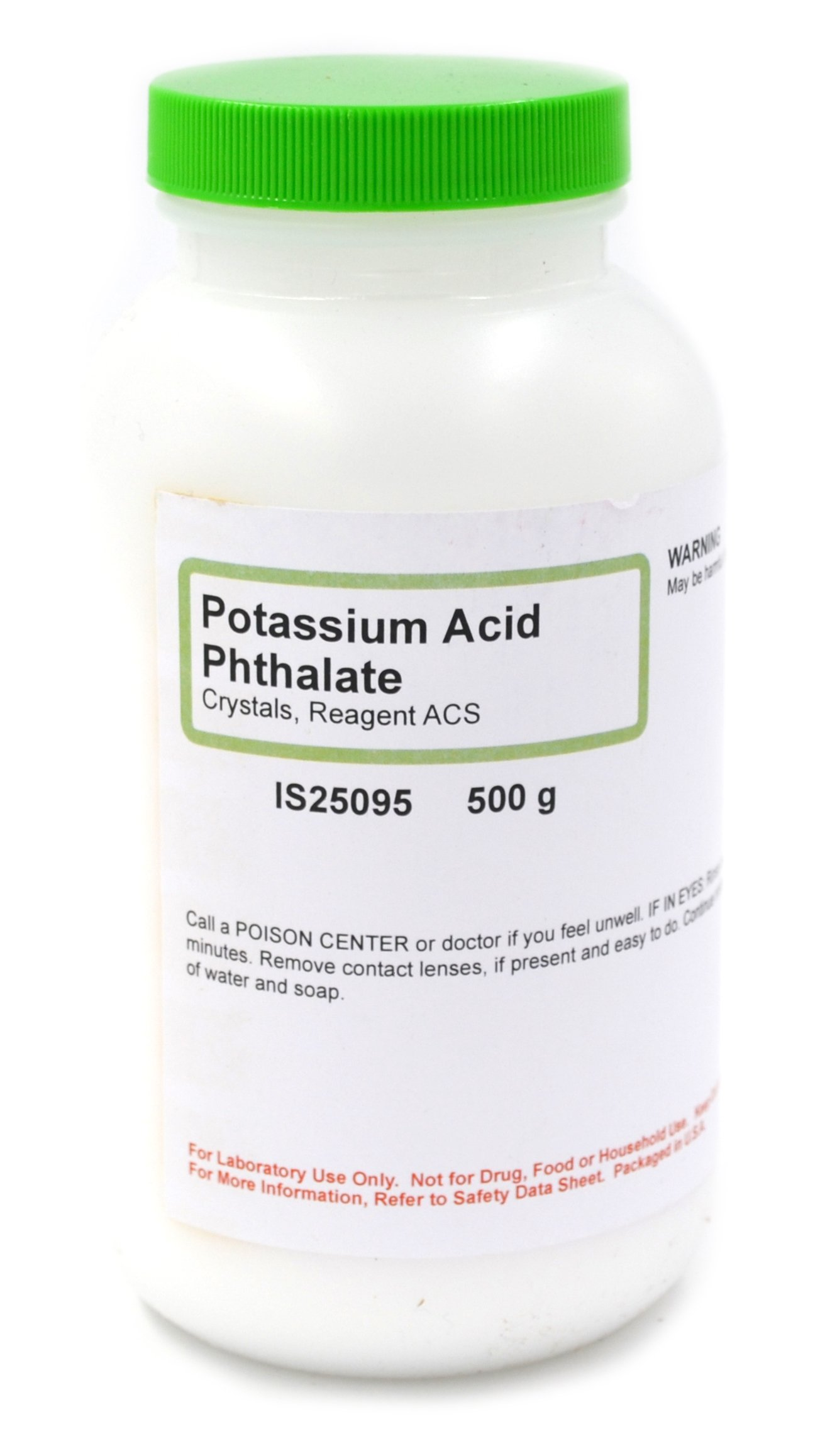 ACS-Grade Potassium Acid Phthalate Crystals, 500g - The Curated Chemical Collection