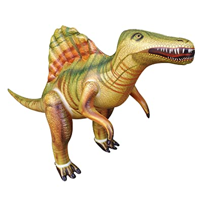 "Jet Creations 53"" Spinosaurus Inflatable Air Stuffed Plush Toy, Durable Self Standing, one of The Best Dinosaur Toys, Party Favors for Kids, Pool Toys, DI-Spino: Toys & Games"
