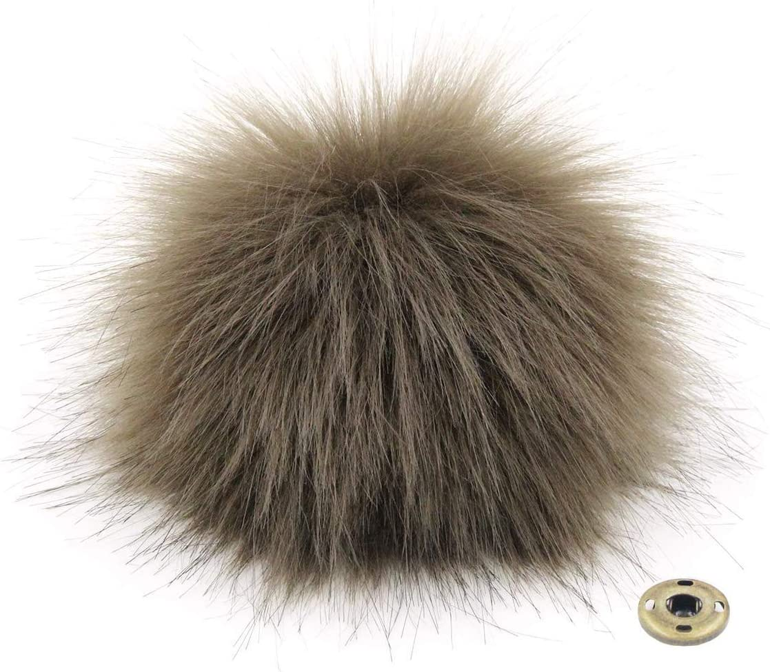 DIY 12pcs Fluffy Faux Fox Fur Pompom Ball with Tiny Cord fits for Hat Shoes Garment Accessories 5.9 Inches 12 Colors