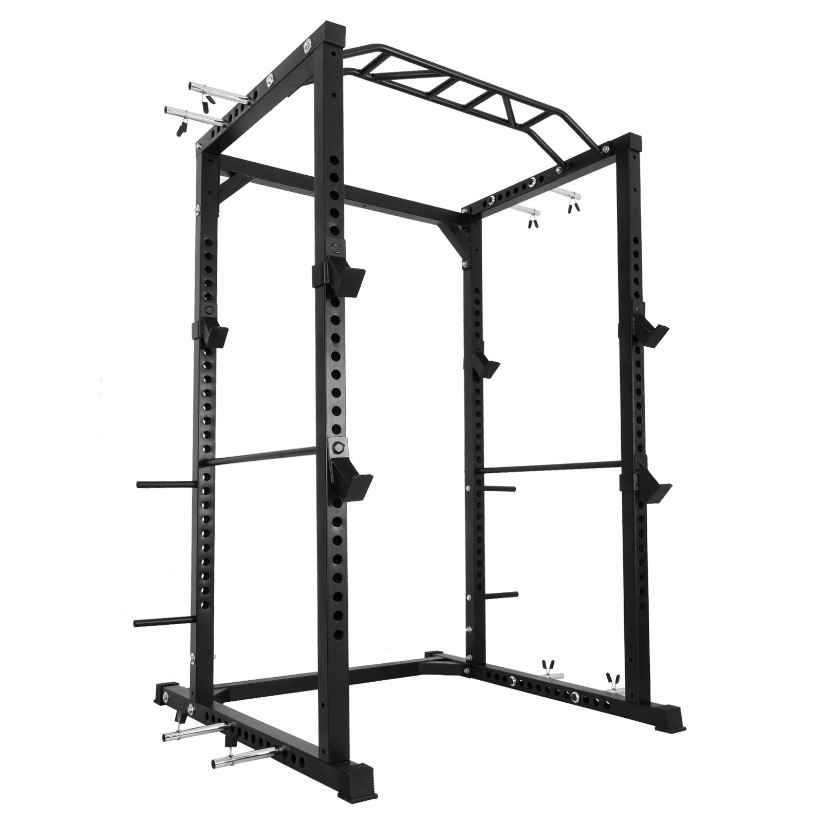OrangeA BD-41 Heavy Duty Power Cage with Band Pegs and Multi-Grip Chin-Up Multi-Functional Power Rack with Adjustable Bar (BD-41)