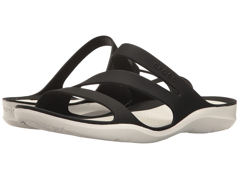 Crocs Women's Swiftwater Sandal B07C9Y2WRZ 11 M US|Black White