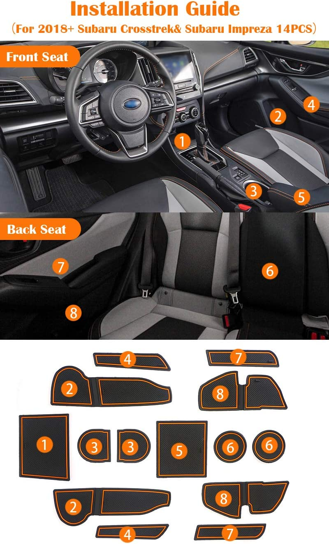 Auovo Dashboard Mats Car Dash Rubber Pad Liner for 2018-2020 Subaru Crosstrek Impreza 2019-2020 Forester Interior Accessories 1 pcs Red Trim Dashboard Mat