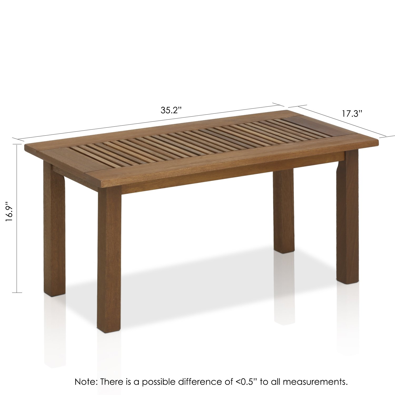 Amazon Furinno Tioman Hardwood Outdoor Coffee Table in Teak