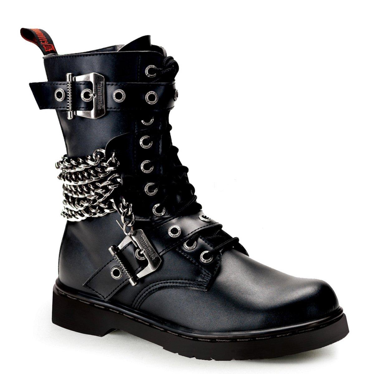 Demonia Veggie Military Punk Stiefel Defiant 204 Mattschwarz
