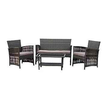 Patio mesa conjunto muebles de jardín 4 piezas para todo tipo de ...