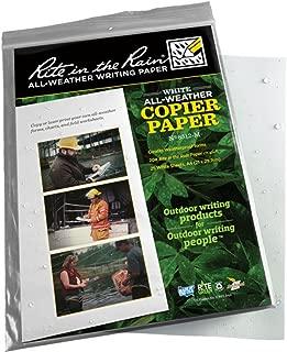 product image for Rite In The Rain Copier Paper - White - A-4 (21 X 29.7 Cm) - 25 Sh #8512-M