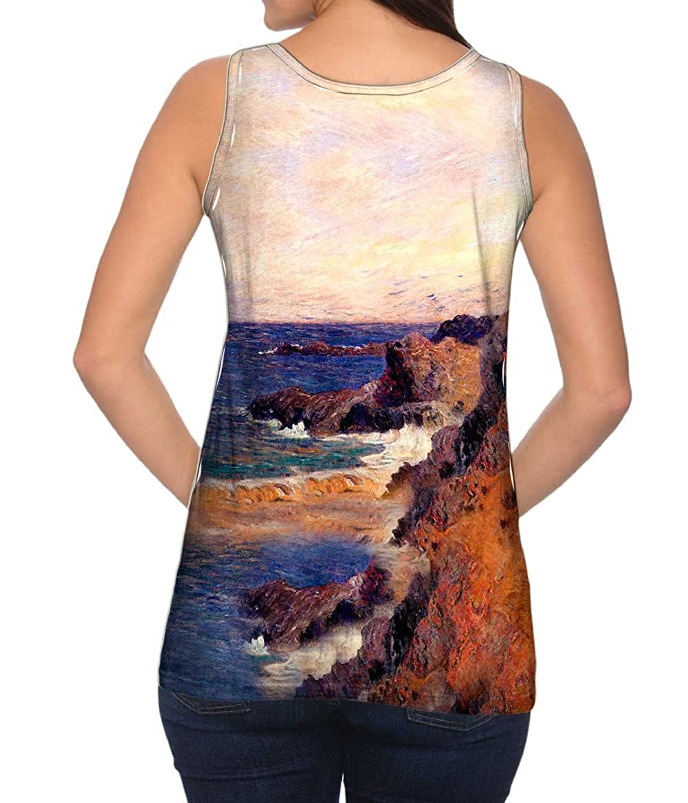 -Tshirt- Womens Tank Top 1855 Yizzam- Paul Guaquin Coastal Hand Scape