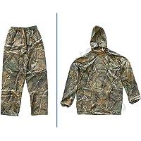 Sutter Hombre Chaqueta y Pantalón de Caza (Traje de Lluvia/Camuflaje (2 Piezas) Camuflaje