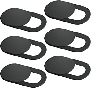 2019 Laptop Camera Cover Slider 6 Pack, Webcam Cover Strong Adhesive for Computer Mac, MacBook Pro, iMac, iPhone, Android Phone, Echo Show/Sports, Sliding Blocker Slide - Ideal Gift for Everyone