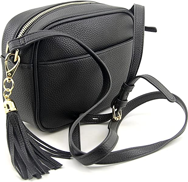 b93fd315ba1e3 Kate   Alex Cuffaro Camera Crossbody Bag Women Black Messenger. Back.  Double-tap to zoom