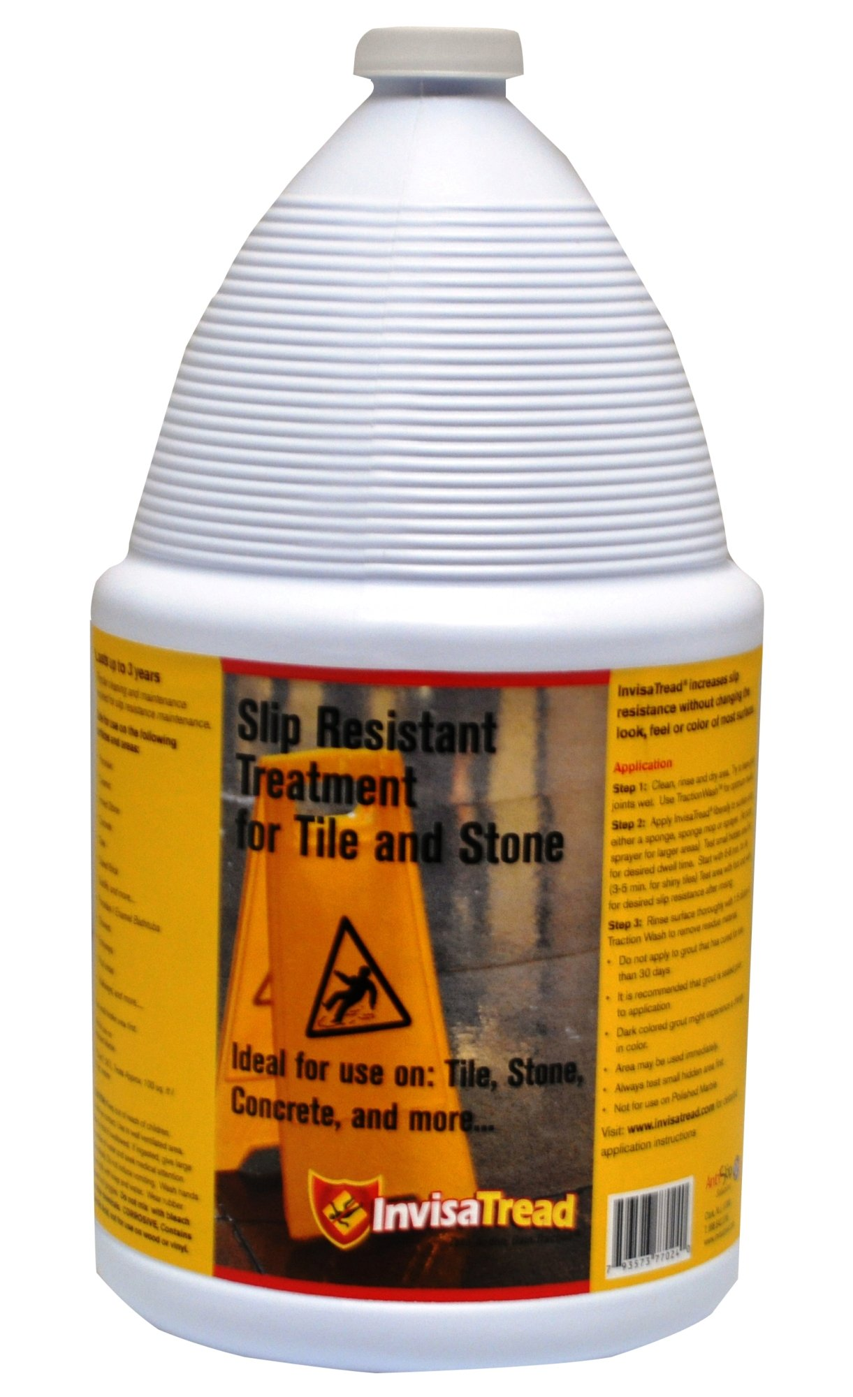InvisaTread IVT128 1-Gallon Slip Resistant Treatment for Tile and Stone