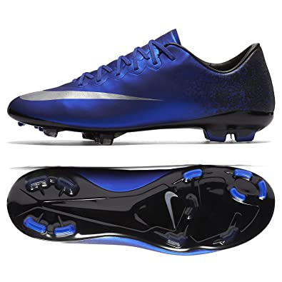 online retailer f777a c2759 Nike Jr Mercurial Vapor X CR7 684841-404 Royal Blue/Black Kids' Soccer  Cleats