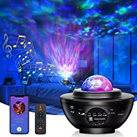 Star Projector Night Light Ocean Wave Projector LED Starry Sky Lights 21 Lighting Modes with Bluetooth Music Speaker…