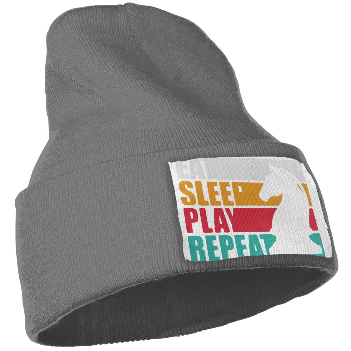 TAOMAP89 Eat Sleep Chess Repeat Women and Men Skull Caps Winter Warm Stretchy Knit Beanie Hats