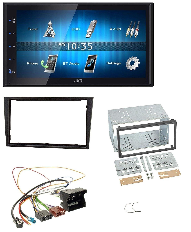 caraudio24 JVC KW-M24BT 2DIN Bluetooth MP3 AUX USB Autoradio f/ür Opel Corsa D Stealth schwarz