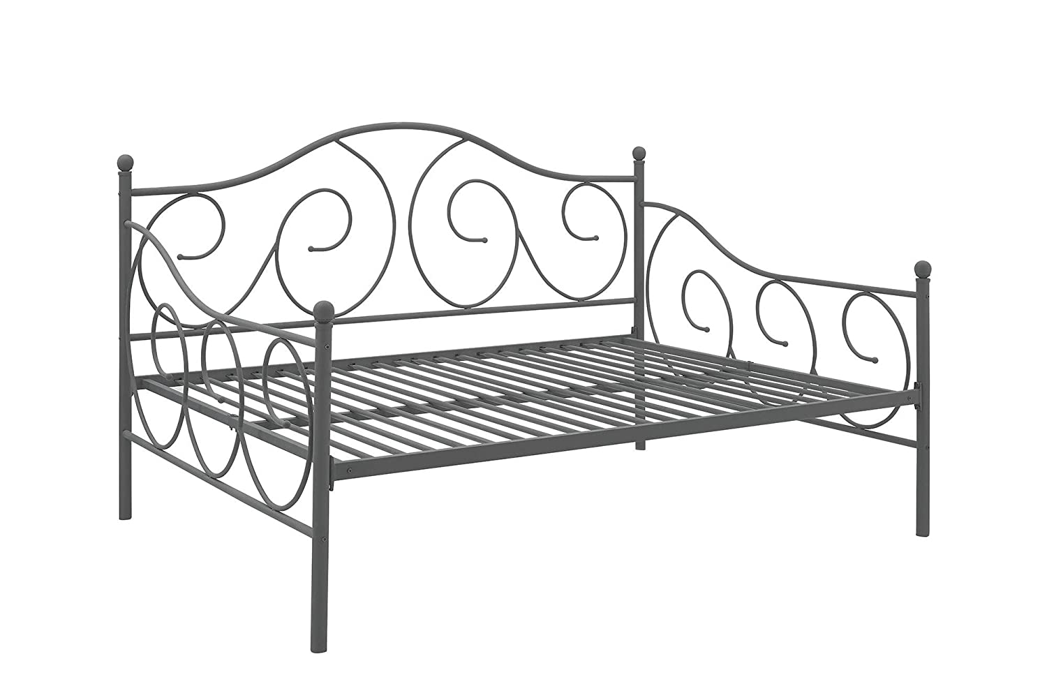 Amazon.com: DHP Victoria Full Size Metal Daybed, Pewter: Kitchen & Dining - Amazon.com: DHP Victoria Full Size Metal Daybed, Pewter: Kitchen
