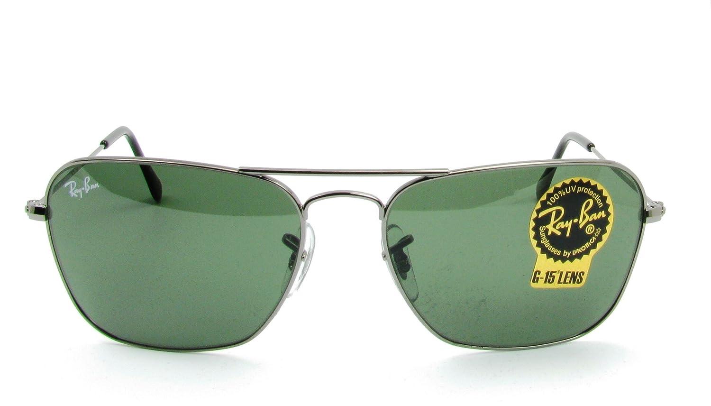 d8d300a776c89 Ray-Ban Unisex RB3136 Caravan 5515 004 Gunmetal W Green G-15xlt Sunglasses   Ray-Ban  Amazon.ca  Clothing   Accessories