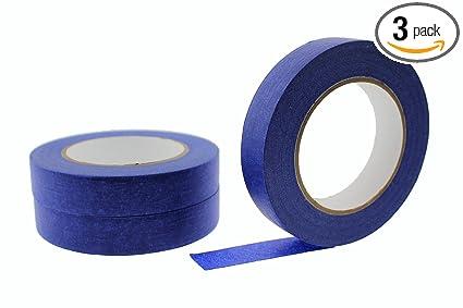 3pk 1 x 60 yd blue painters tape professional grade masking edge trim easy removal - Blue Painters Tape