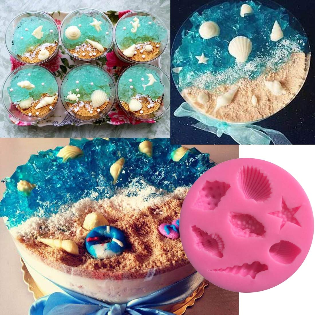 Cake Molds - Useful Sea Shell Starfish Conch Shape Cake Chocolate Silicon Mold Fondant Decoration - Beginners Book Decorating Supplies Moldes Boss Tools ...