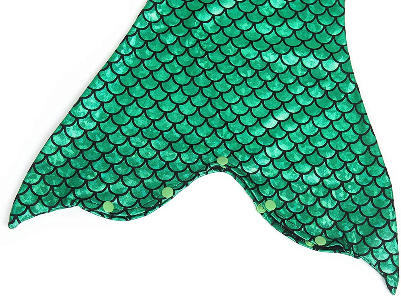 HenzWorld Mermaid Costume Dress Up Princess Romper Birthday Pool Party Holiday Swimsuit Little Kids Outfits Fish Scale
