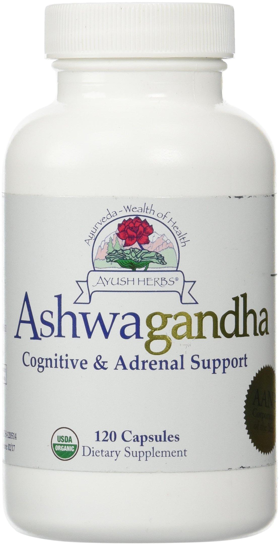Ayush Herbs - Ashwagandha 120 Veggie Capsules