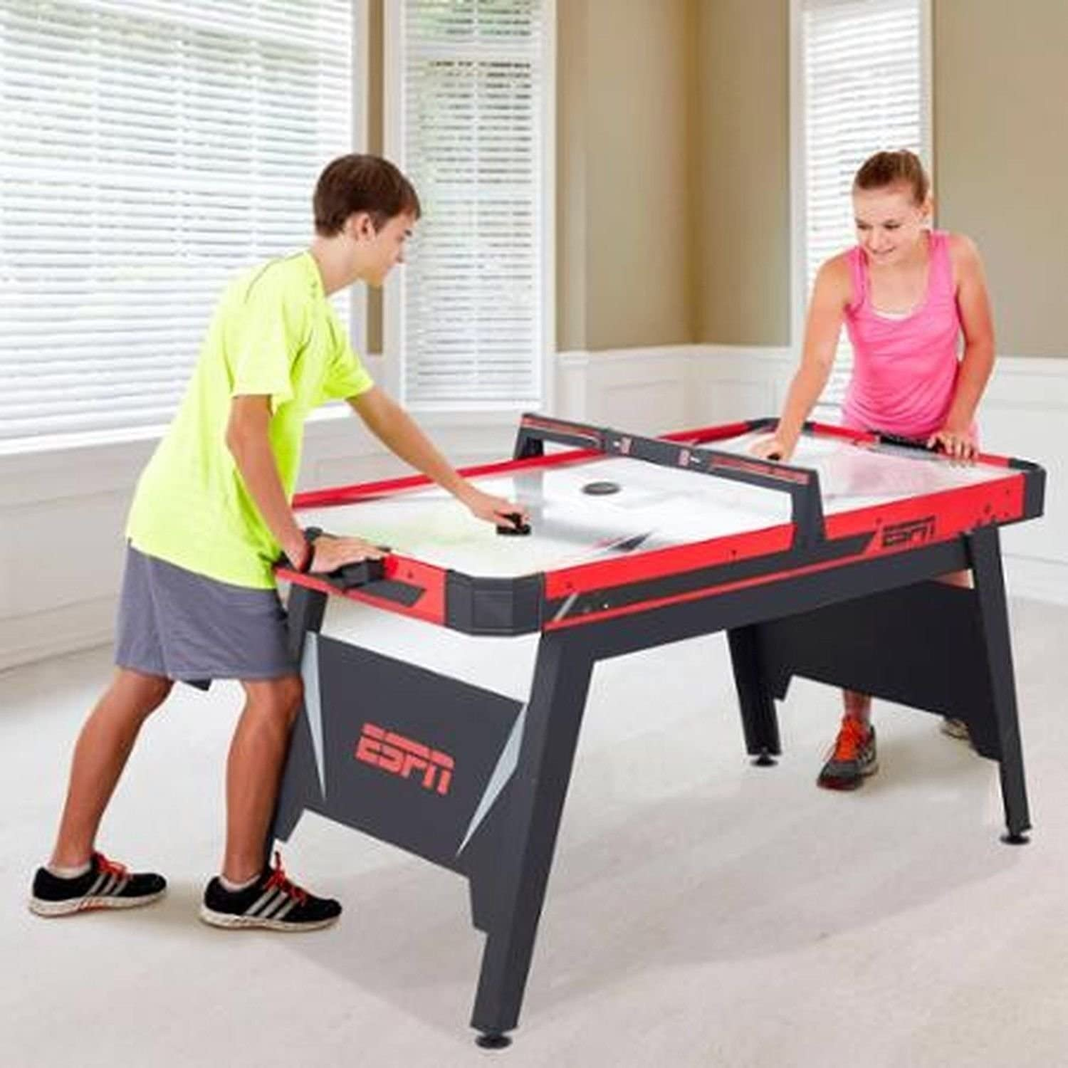 Amazon Com Supershop Espn 60 Air Powered Hockey Table 821735160032 Toys Games