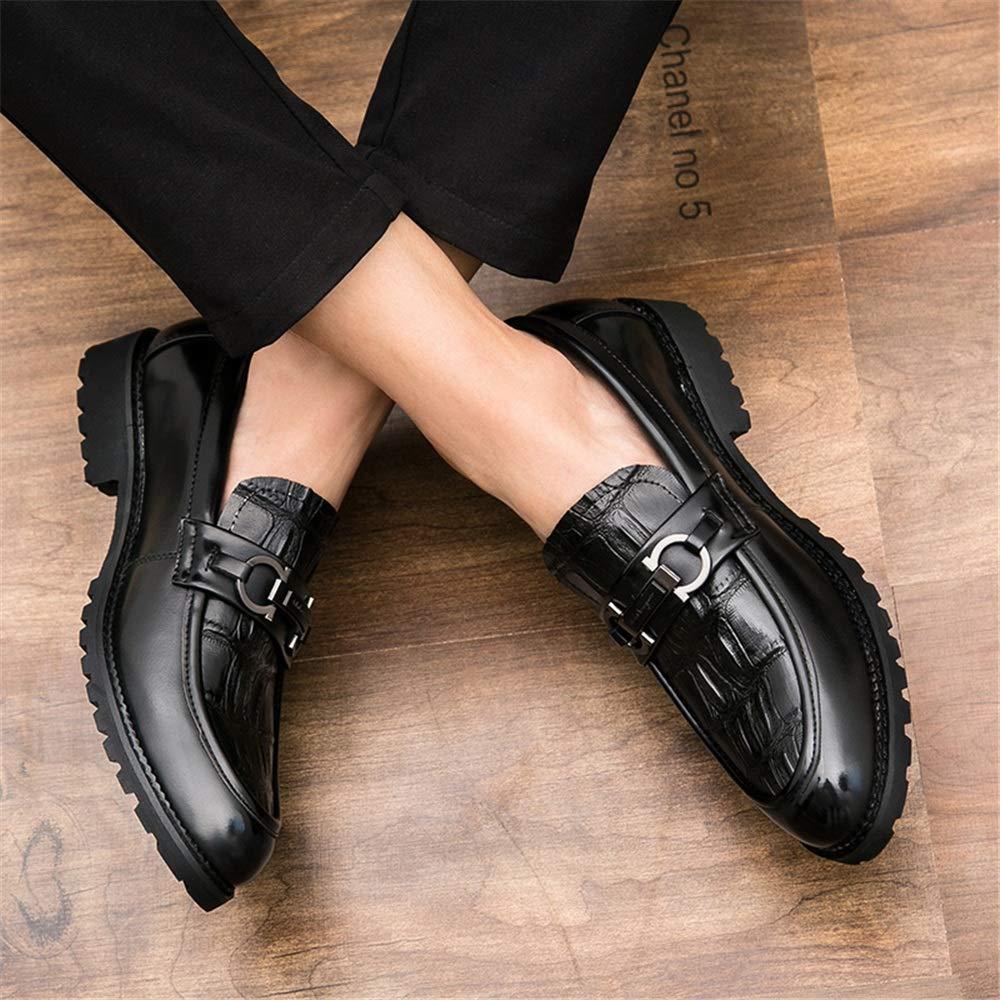 Fang-shoes, 2018 Zapatos Hombre, Zapatos Gruesos Inferiores de los Hombres del botón del Metal del patrón del cocodrilo Delantero Inferior de los Hombres ...