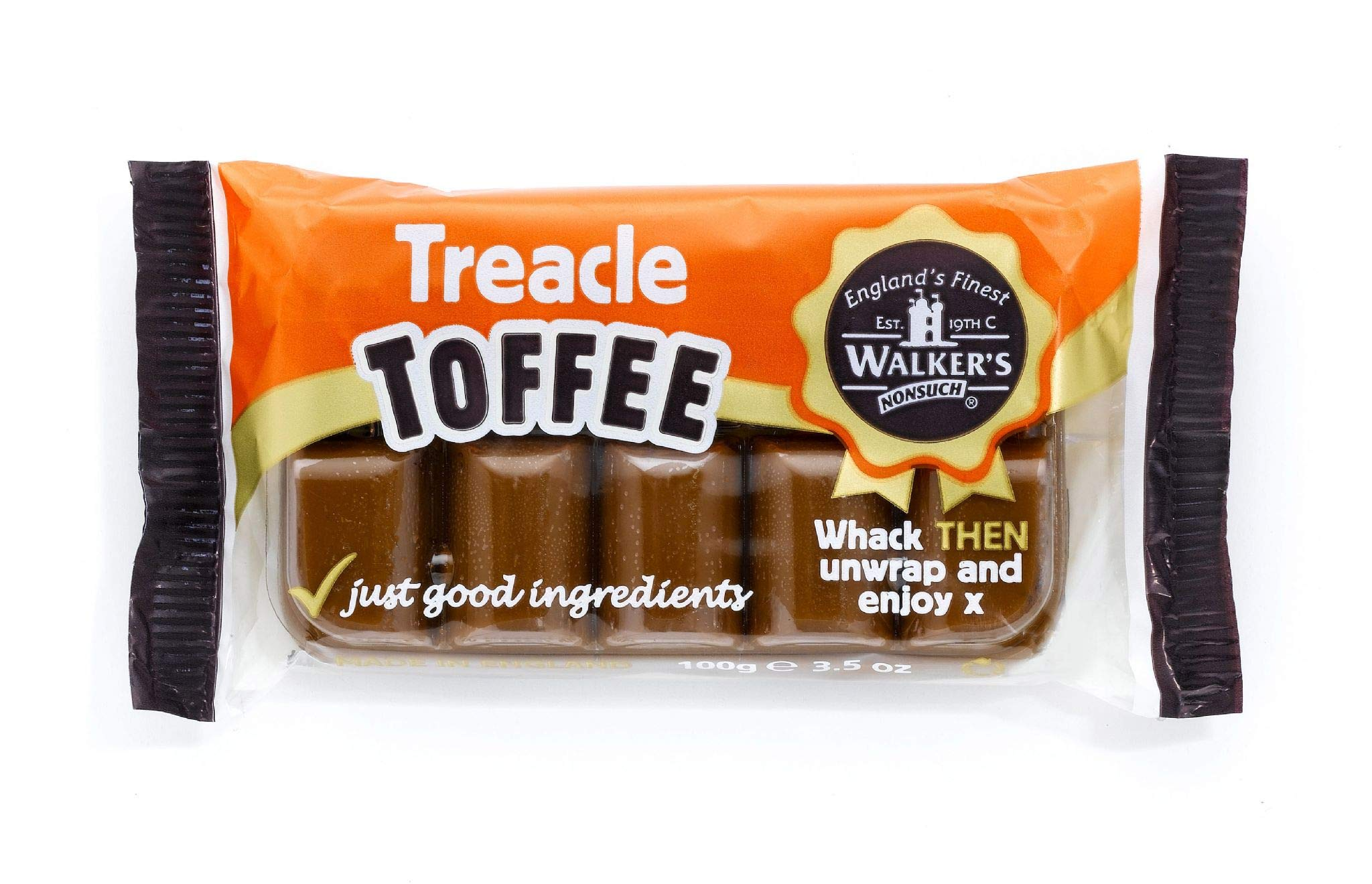 Walker's Nonsuch Treacle Toffee Bars 100g