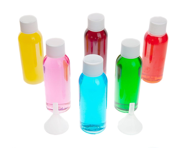 Air Travel Flaschen–6Pack Kunststoff Flasche transparent, 50ml-Set Flaschen zu tragen auf Flugreisen MCM MC-PBS-6