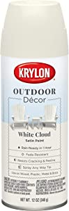 Krylon Outdoor Décor Spray Paint, White Cloud