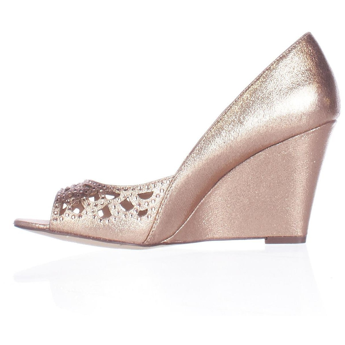 Style & Co. Womens Cathiee Round Toe Wedge Pumps, Coppertone, Size 8.5