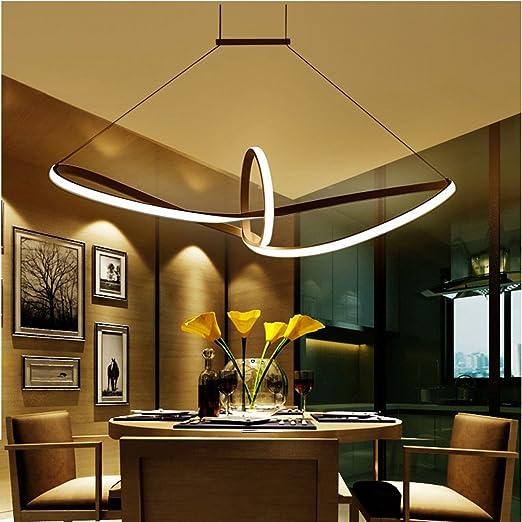 Modern LED Elegant Ceiling Light Living Room Bedroom Lamp Dining Design Curved Chandelier