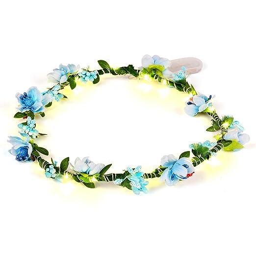 2X Sommer  Frauen Blumenkranz Krone Blumen Hochzeit Garland Stirnband Kopfs 2X