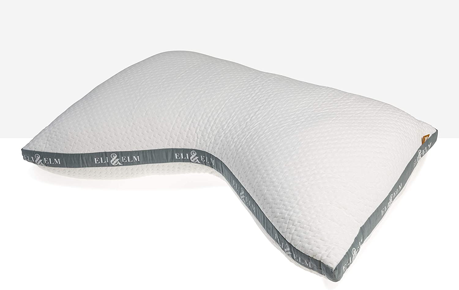 Eli & Elm | Ultimate Pillow for Side Sleepers with Adjustable Filler to Get The Perfect Contour Curved Pillow for A Neck Pain Relief Sleep - Hypoallergenic Cotton Sleeping Surface- 17
