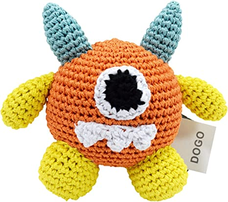 biology toy Cotton Amigurumi Bacteria Plushie Dog toy crochet dog toy