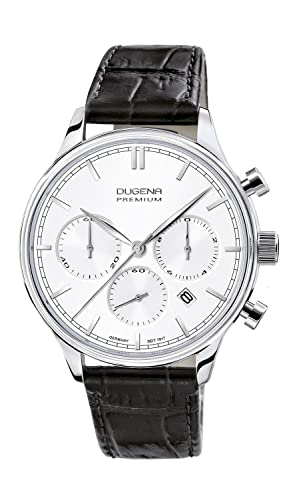 Dugena reloj hombre chrono 2015 SIGMA XL Premium piel 7000200 Cronógrafo Cuarzo: Amazon.es: Relojes