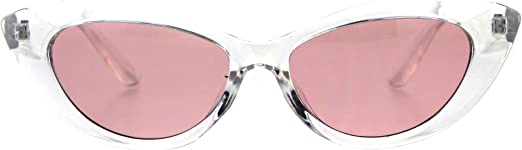 Womens Mod Minimal Oversize Cat Eye Plastic Sunglasses