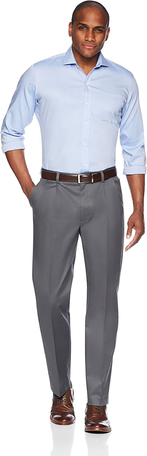 Buttoned Down Mens Relaxed Fit Pleated Non-Iron Dress Chino Pant Brand