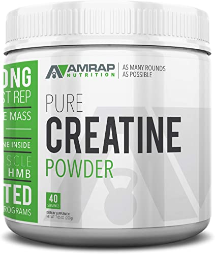 AMRAP Nutrition – Creatine Powder – Formulated to Give You Energy When You Need It Most – Builds Lean Muscle Mass – Aids in Muscle Recovery – Pre-Workout, for Men – Women