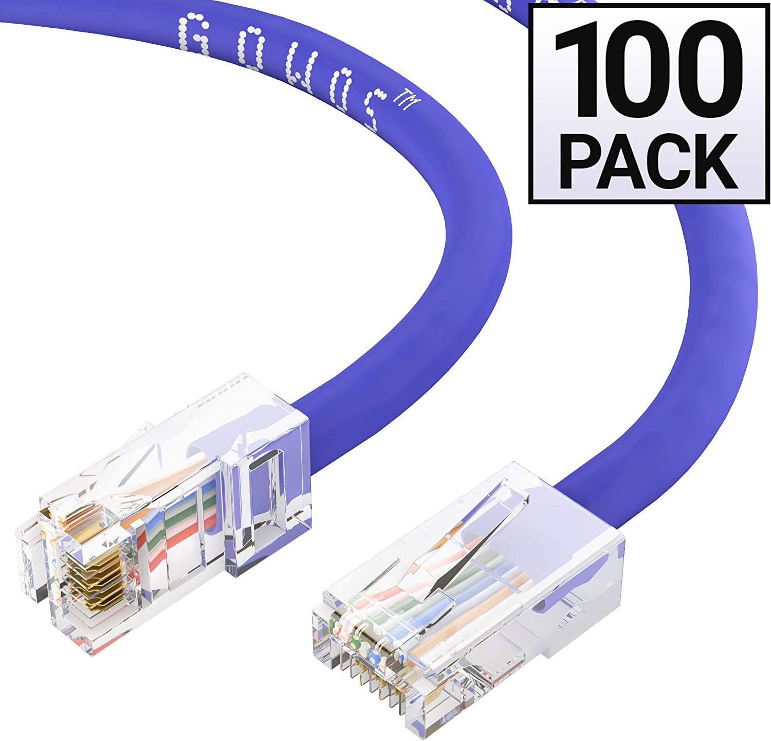 5 Feet - Red 1Gigabit//Sec High Speed LAN Internet//Patch Cable 24AWG Network Cable with Gold Plated RJ45 Non-Booted Connector 350MHz GOWOS Cat5e Ethernet Cable