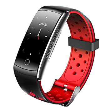 Fitness Tracker Montre connectée pour iOS Android, Q8S Bluetooth étanche, Montre Intelligente avec fréquence