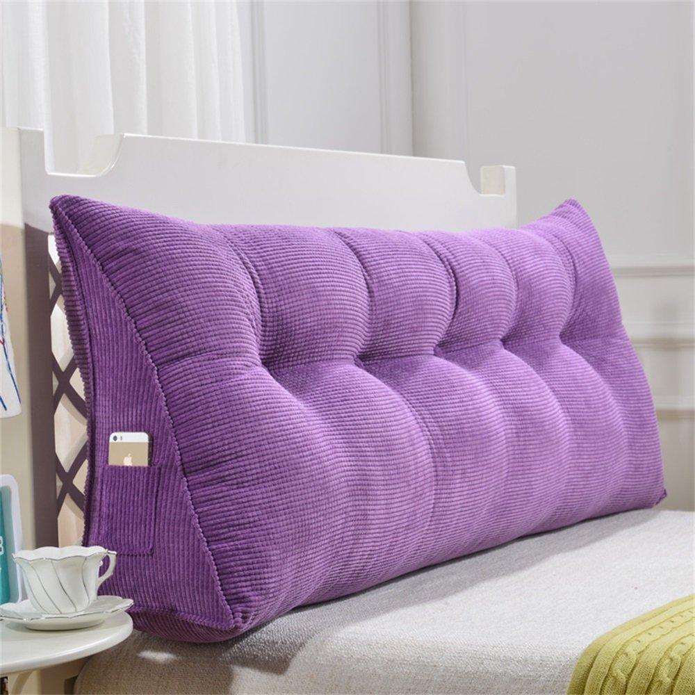 取り外し可能な三角クッション/ピローダブルベッドソフトバッグベッドクッションベッドバックレスト (色 : Purple, サイズ さいず : 150 * 50 * 20cm) B07DK3K8MV 150*50*20cm|Purple Purple 150*50*20cm