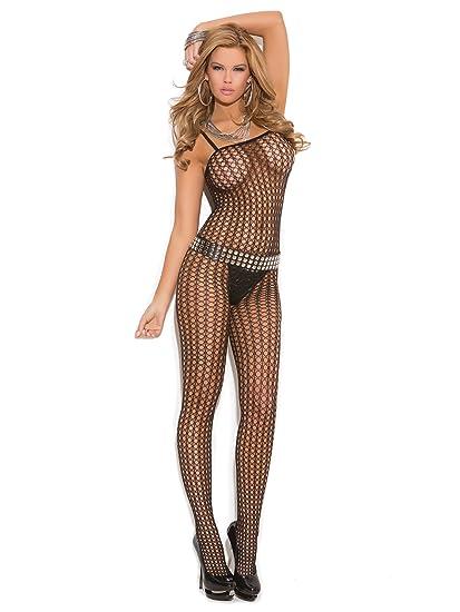 00544c4c45 Amazon.com  Elegant Moments Women s Crochet Bodystocking with Open Crotch