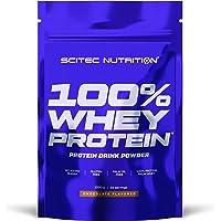 Scitec Nutrition 100% Whey Protein, Bebida en polvo de concentrado de proteína de suero con edulcorantes, sin azúcar…