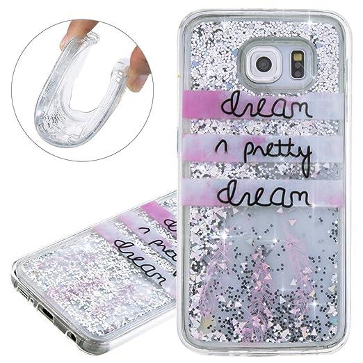 3 opinioni per ISAKEN Cover Samsung Galaxy S6, Custodia Galaxy S6, Creative TPU Disegno Soft