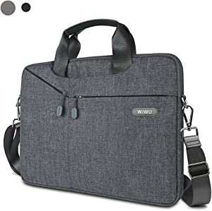 WIWU Laptop Bag 13-13.5 Inch, Slim Laptop Carrying Case With Shoulder Strap for 13-inch MacBook Pro/Air, 13.5 inch Surface Book, Surface Laptop,Dell XPS 13 and more notebook (Gray)